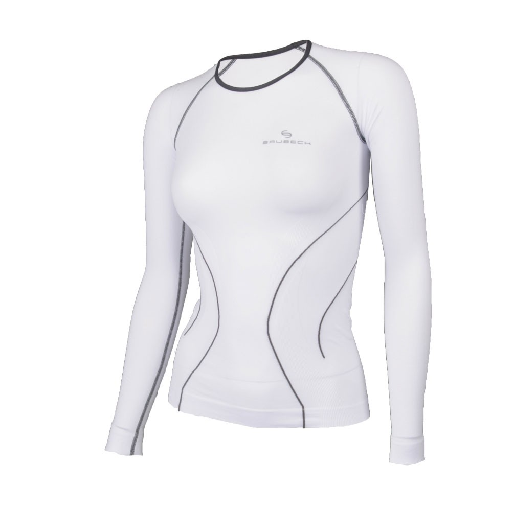 30612853b3927b koszulka damska termoaktywna biała Brubeck Balance koszulka damska  termoaktywna biała Brubeck Balance- przód ...