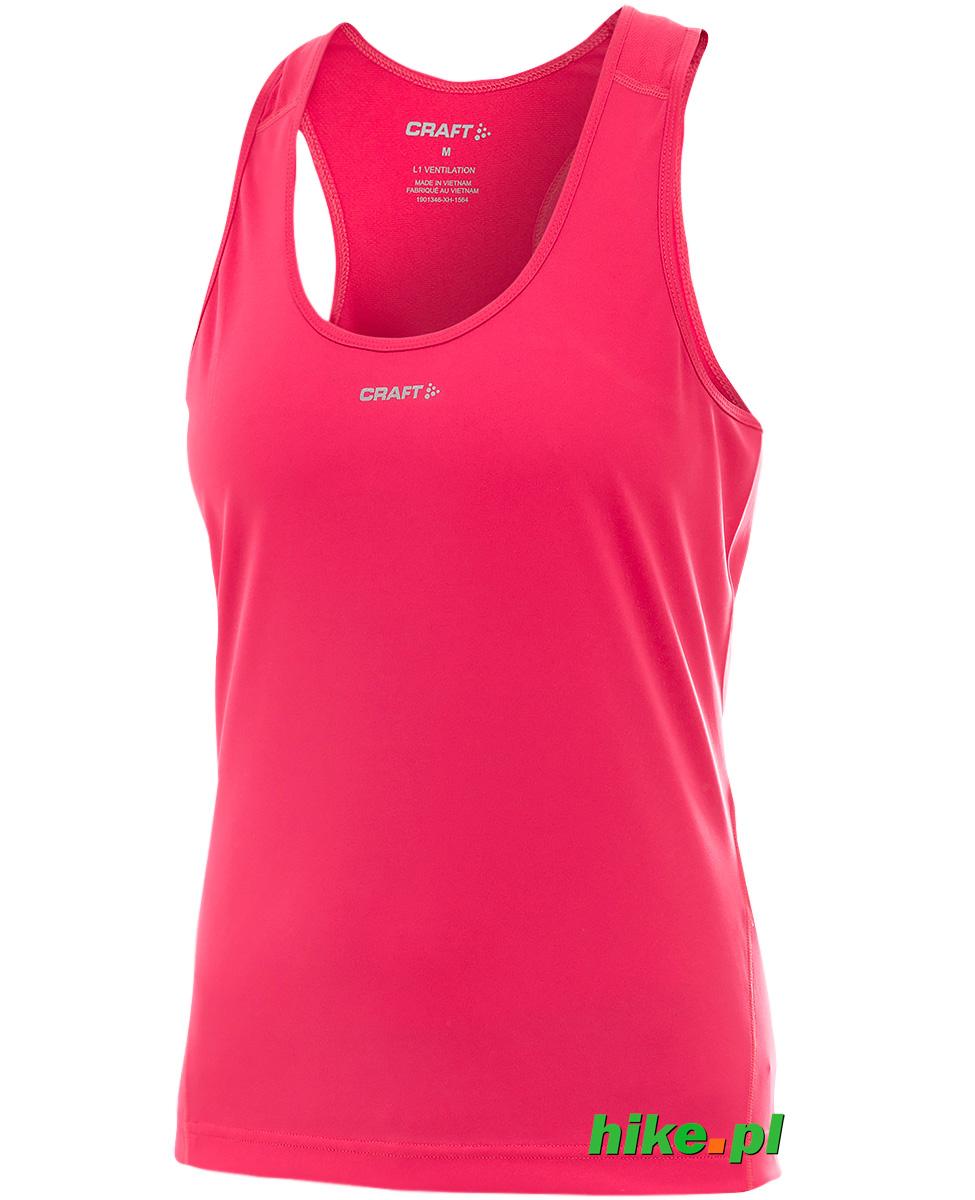 8385eee19de27c damska koszulka do biegania Craft Mind Singlet kolor: różowy - Hike.pl
