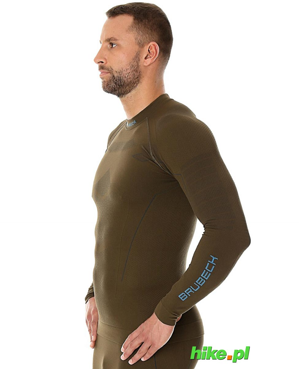 7f984c11094611 Brubeck Thermo męska koszulka termoaktywna khaki Brubeck Thermo męska  koszulka termoaktywna khaki ...