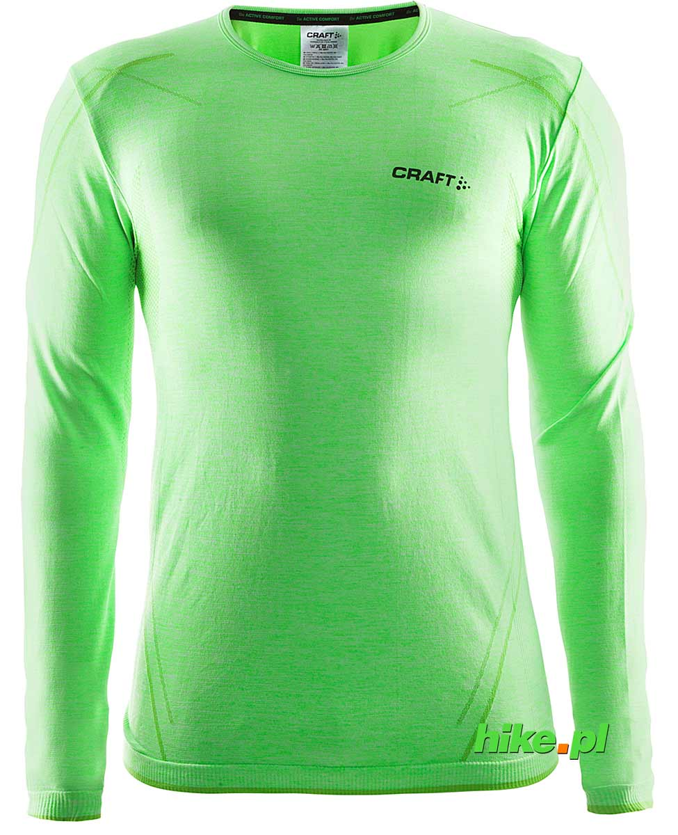 Craft Active Comfort RN LS - koszulka męska z długim rękawem zielona rozm. XL