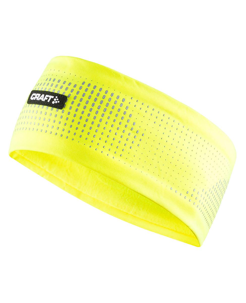 626649243a6348 Craft Brilliant 2.0 Headband - opaska żólta AW18 - Hike.pl