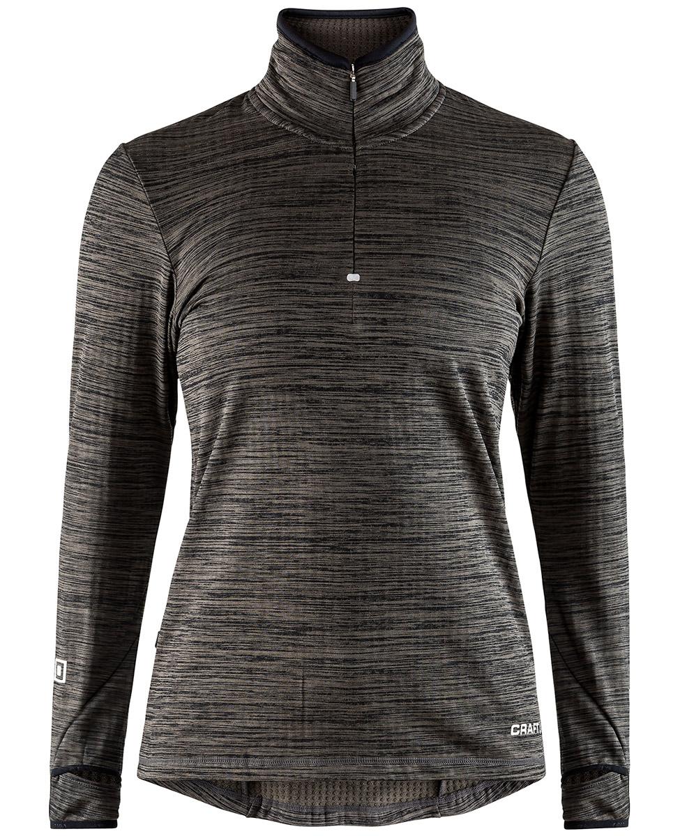 Craft Grid Halfzip damska ocieplana bluza ciemnoszara