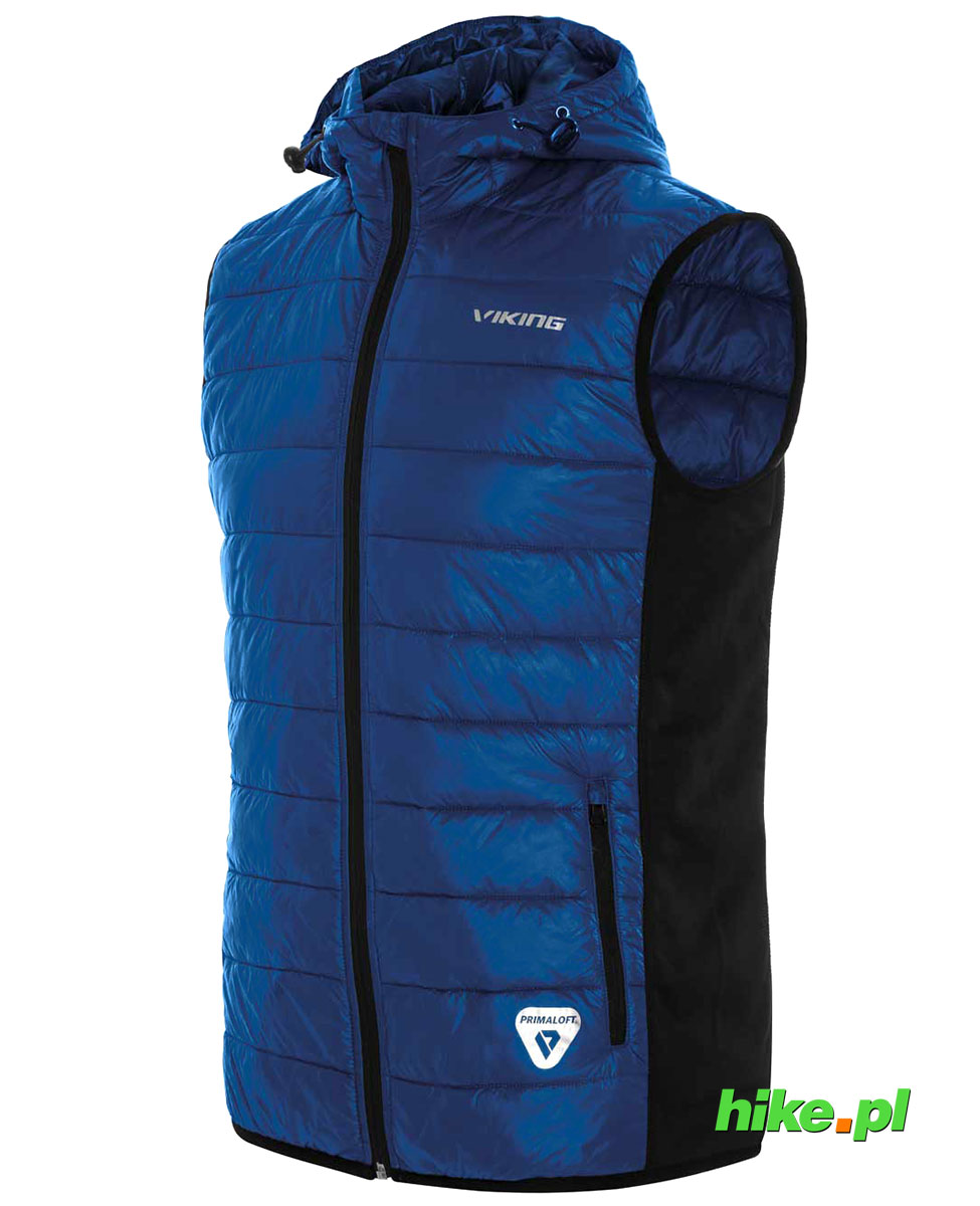 f9fc206b2367e Viking Bart Vest - męska kamizelka primaloft z kapturem niebieska/czarna