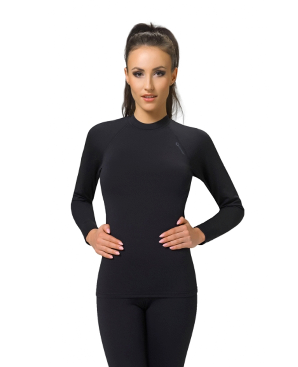 c51e415042d26c GWINNER TOP I WarmLine damska koszulka termoaktywna, czarna