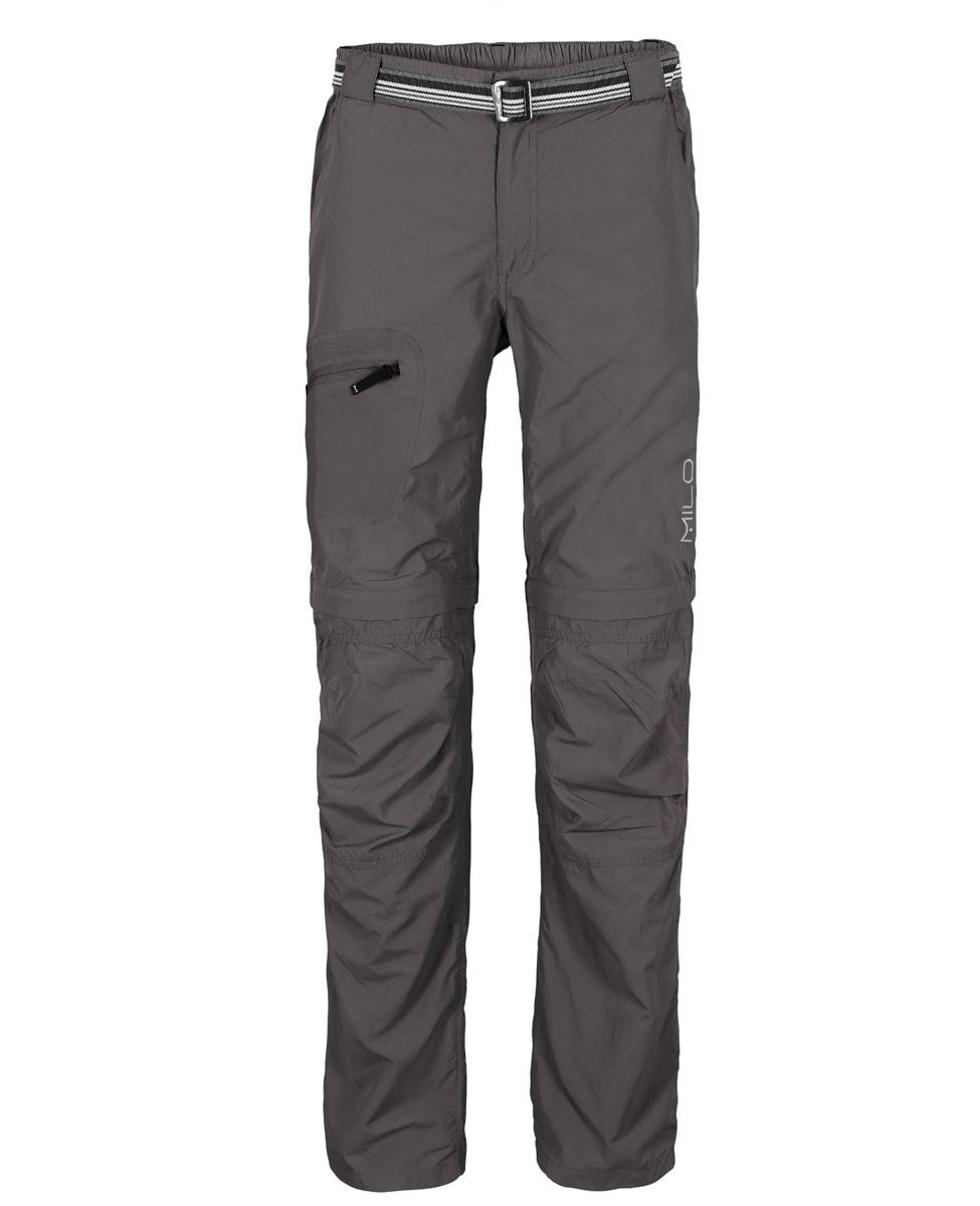MILO L'GOTA - męskie spodnie z odpinanymi nogawkami, szare