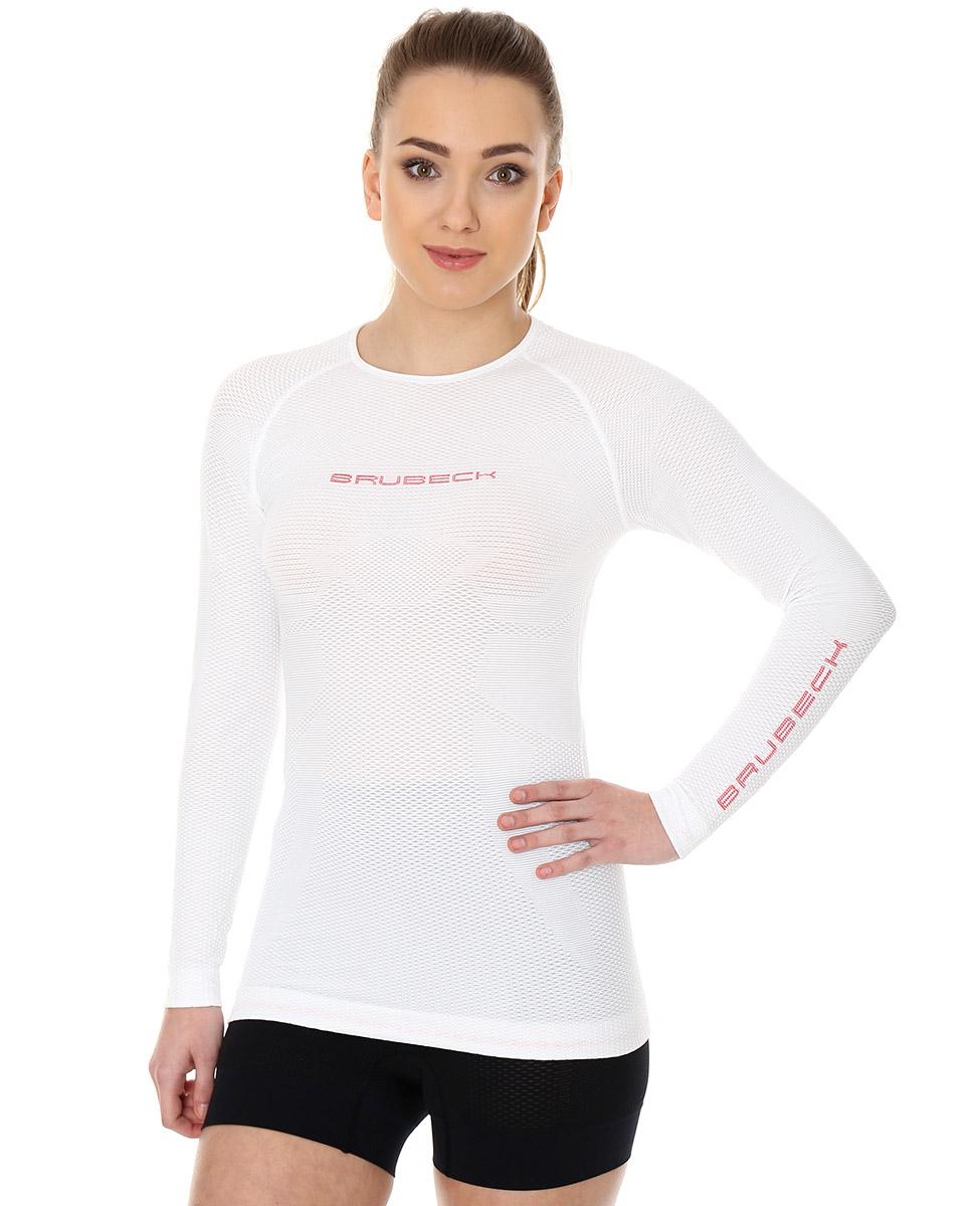 Brubeck 3D Run PRO damska koszulka do biegania długi rękaw biała rozm. XL