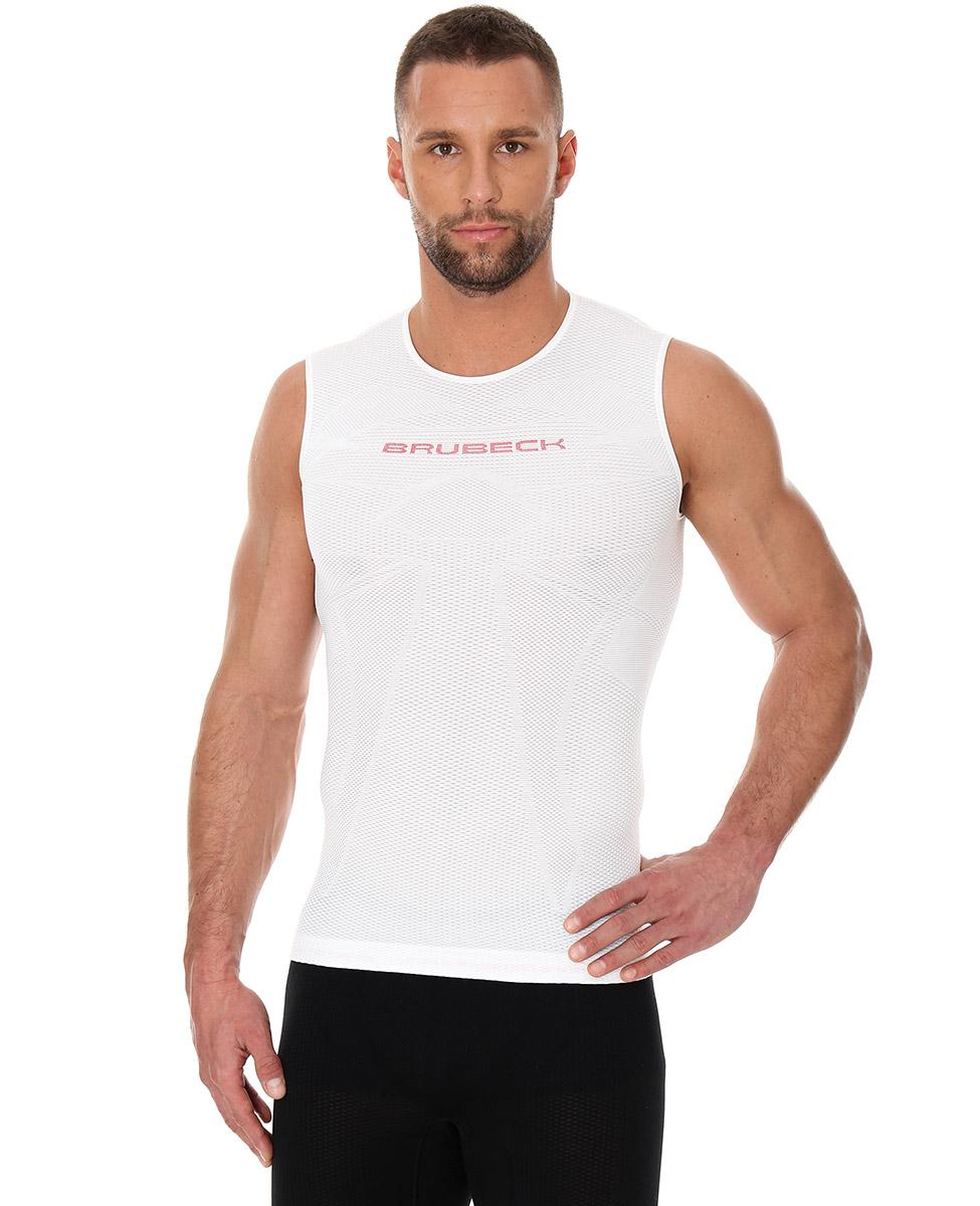 Brubeck 3D Run PRO męski bezrękawnik do biegania biały