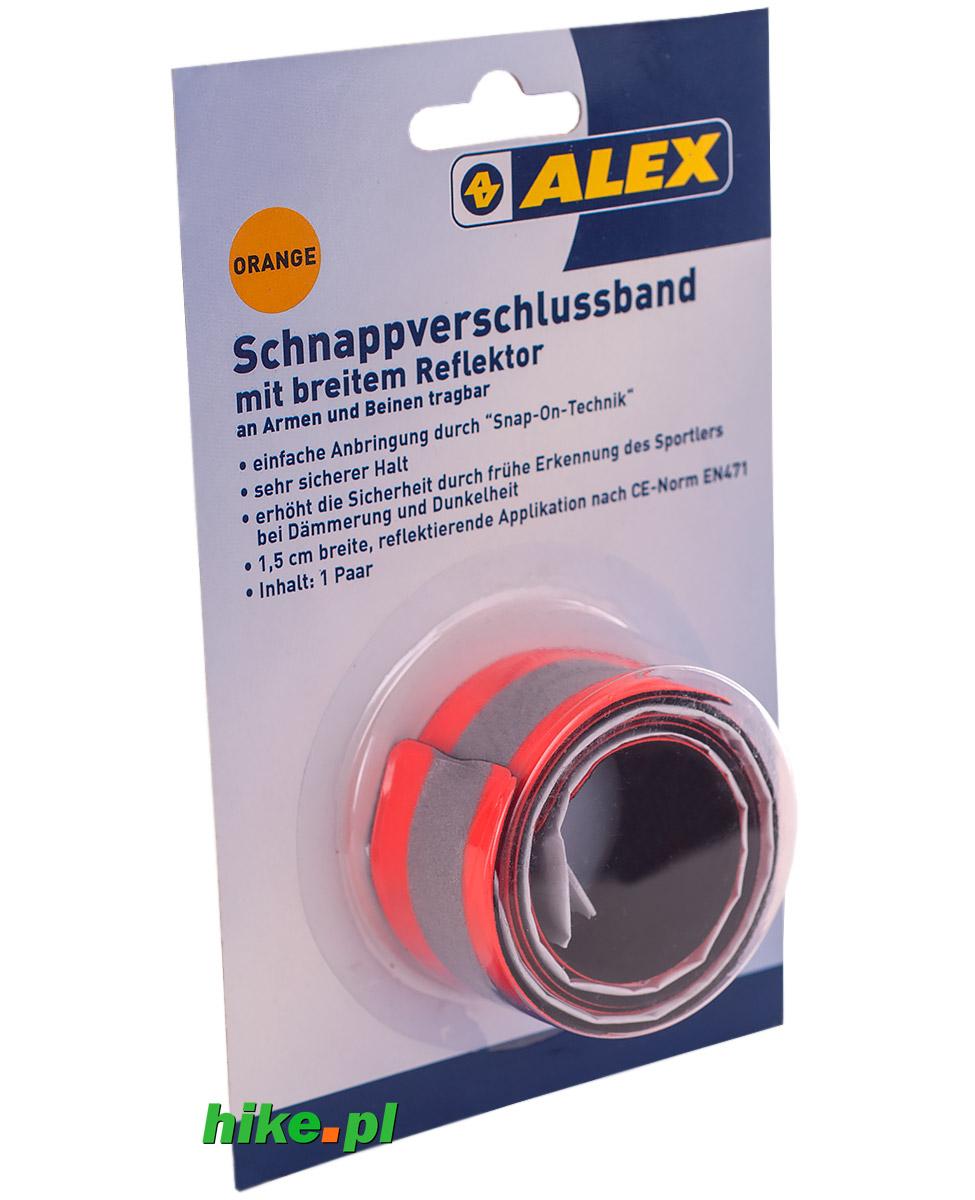 2 opaski odblaskowe Alex Athletics pomarańczowe