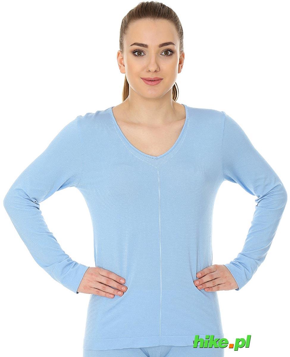 045f3aea3b03b7 Brubeck piżama Comfort Night - koszulka damska z długim rękawem błękitna