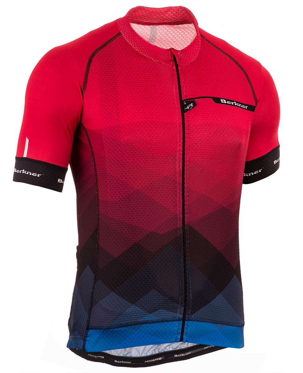 c070a84ef7bde4 Berkner Pablo męska koszulka rowerowa z krótkim rękawem czerwona ...