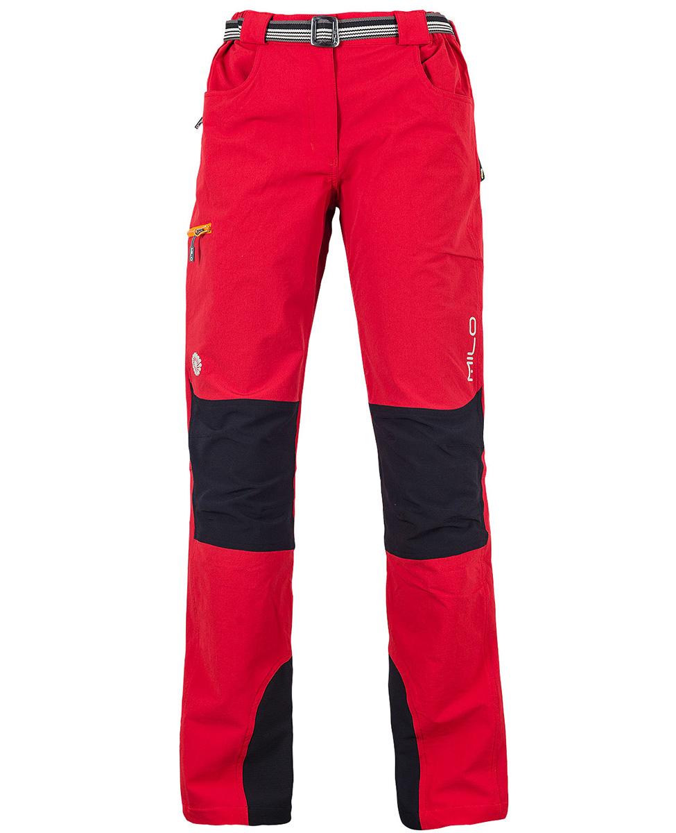 Milo Tacul Lady damskie spodnie trekkingowe czerwone
