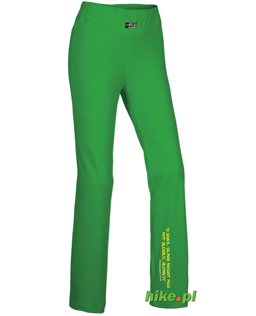 damskie spodnie trekkingowe Milo Pati zielone