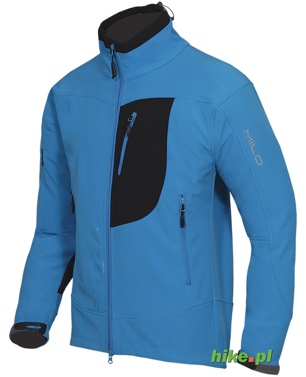 ec7185f18b799 męska kurtka softshell Milo Chill niebiesko-czarna - Hike.pl