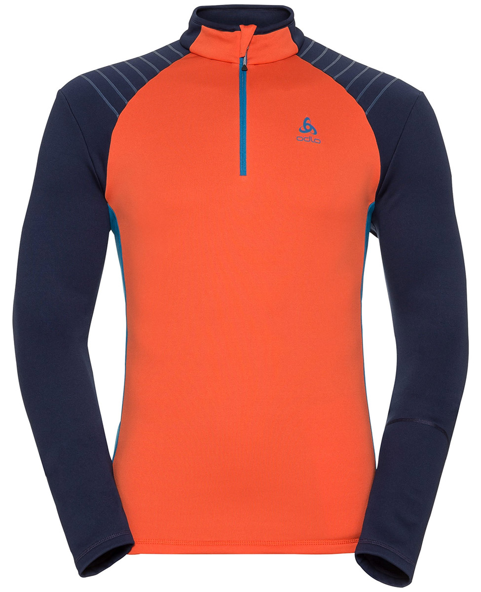 Odlo Pact - męska bluza - pomarańczowa