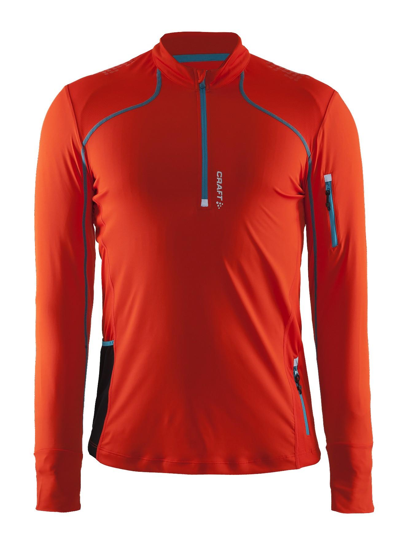 dbc43327a2d8f1 Craft Trail LS Shirt - męska bluza do biegania - pomarańcza SS16 ...