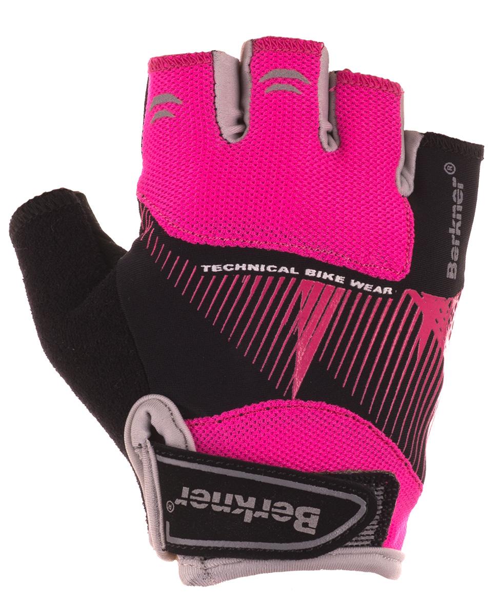 Berkner Ride Woman - damskie rękawiczki rowerowe - czarno-różowe