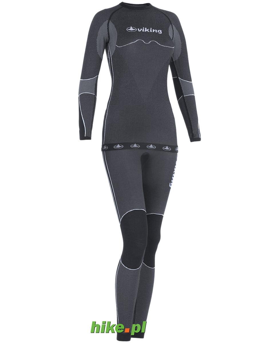 komplet damskiej bielizny termoaktywnej Viking Lena czarny