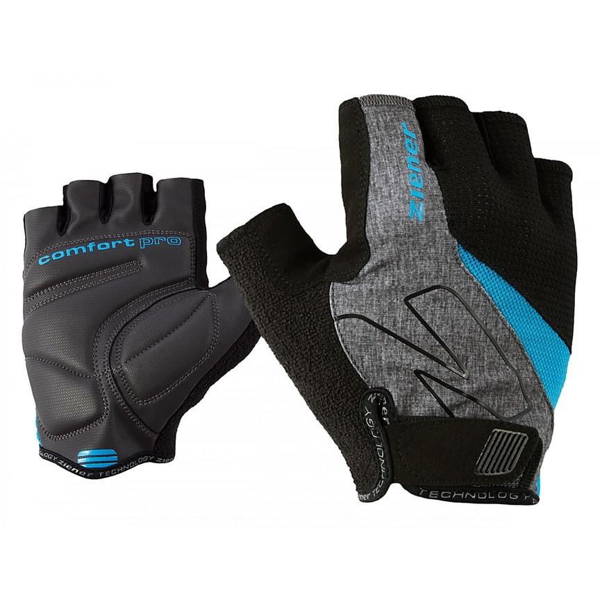 Ziener Crave Memory Foam - męskie rękawiczki rowerowe - szare/niebieskie