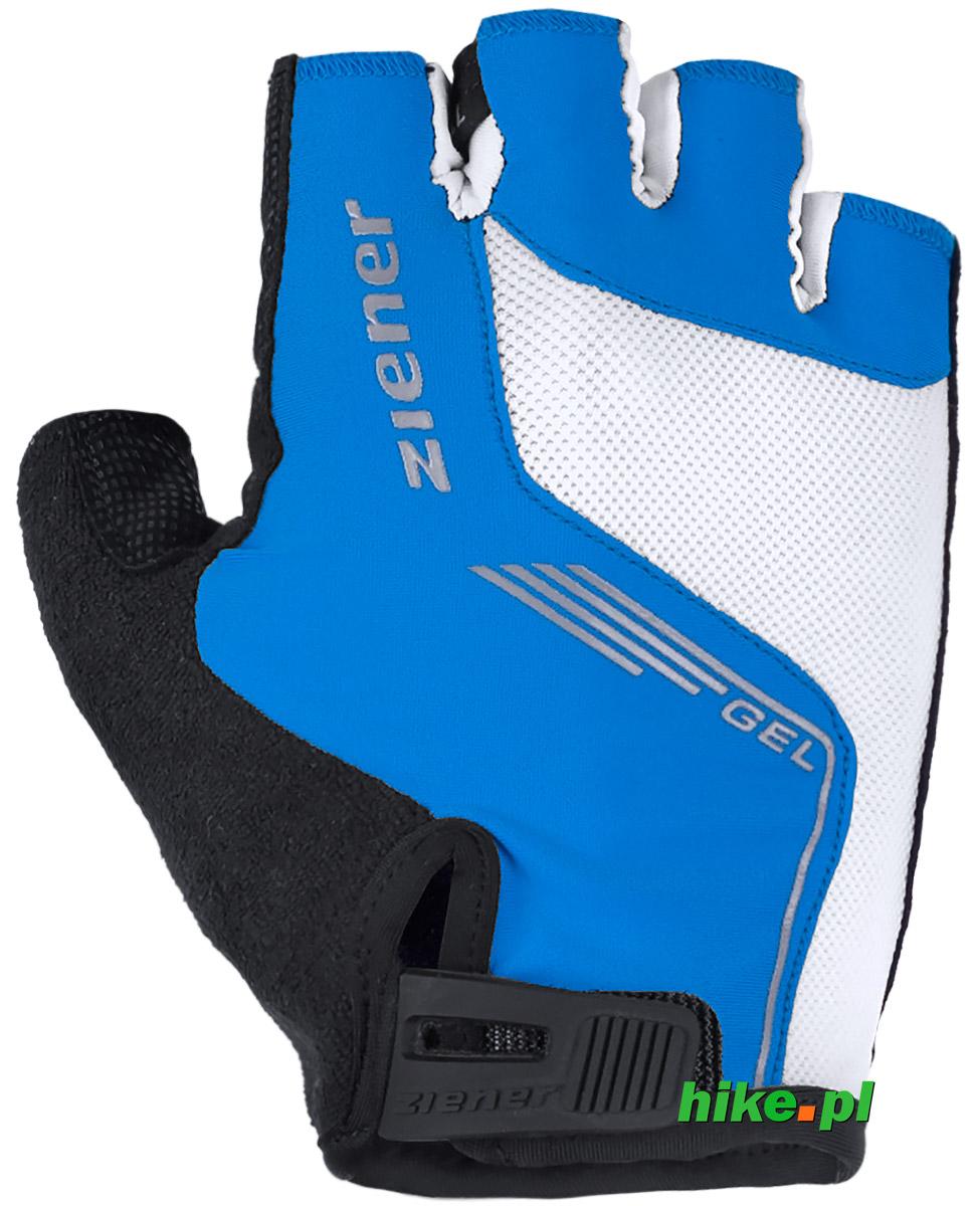 f80b385d1 rękawiczki rowerowe Ziener Cavel czarno-niebieskie - Hike.pl