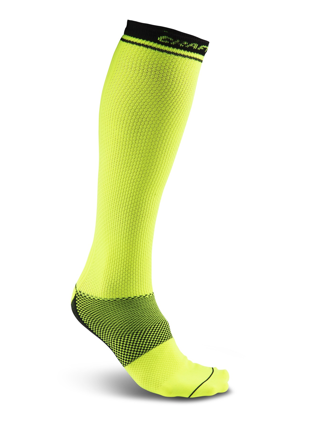 Craft Compression Sock - skarpetka sportowa - żółte SS16
