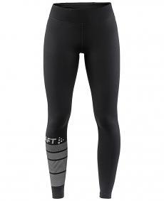CRAFT WARM TRAIN TIGHTS W  - damskie ocieplane spodnie do biegania rozm. S
