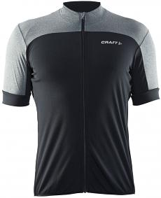 Craft Balance Jersey - męska koszulka rowerowa - czarna/szara
