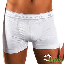 męskie bawełniane bokserki Brubeck Basic Cotton białe