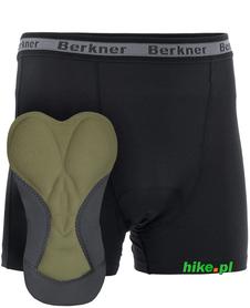 męskie bokserki z rowerową wkładką Berkner Action + czarne