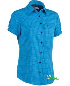 damska koszula z krótkim rękawem North Finder Extreme niebieska