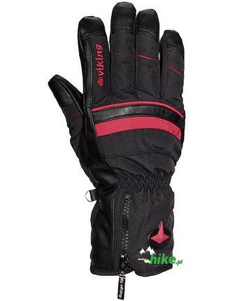Rękawice narciarskie Viking Mefisto czarne/czerwone