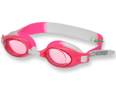 juniorskie okulary do pływania gWinner Junior różowe/białe