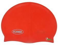 czepek pływacki gWinner Silicone Solid Cap czerwony