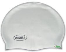 czepek pływacki gWinner Silicone Solid Cap srebrny