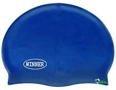 czepek pływacki gWinner Silicone Solid Cap granatowy