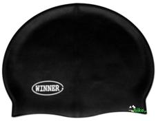 czepek pływacki gWinner Silicone Solid Cap czarny