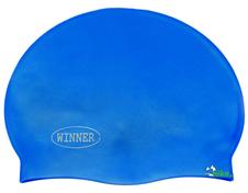czepek pływacki gWinner Silicone Solid Cap niebieski