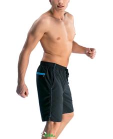 męskie spodenki kąpielowe Gwinner Arek czarno-niebieskie