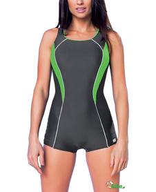 Damski kostium kąpielowy gWinner Isabel I grafitowo-zielony