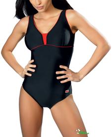 kostium kąpielowy gWinner Anika I czarno-czerwony