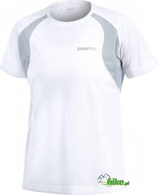 damska koszulka do biegania Craft Active Run Tee With Mesh biała