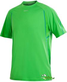 męska koszulka do biegania Craft Active Run Tee With Mesh zielona