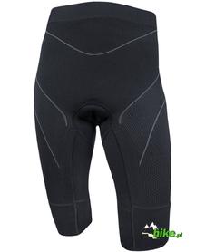 damskie spodnie rowerowe z wkładką Brubeck activity fit