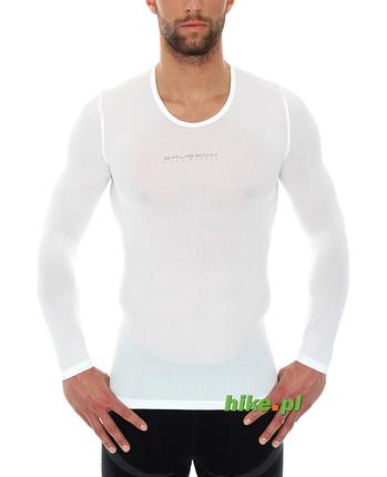 koszulka unisex Brubeck długi rękaw biała