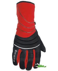 rękawice narciarskie Viking Superrace czerwono-czarne
