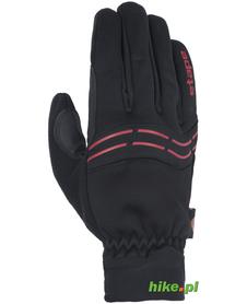 ocieplane rękawiczki rowerowe Etape Gear WS czarne/czerwone