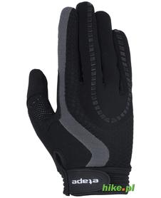 rękawiczki rowerowe Etape Spring czarno-szare
