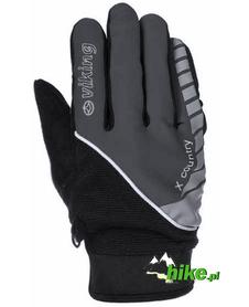 rękawiczki sportowe Viking X-Country czarno-szare