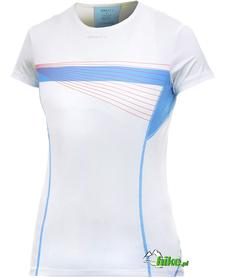 damska koszulka z krótkim rękawem Craft Cool Tee With Mesh Print biała