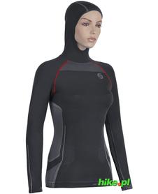 damska bluza z kapturem Brubeck Fitness Hooded Sweathirt czarna