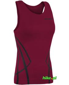 damski bezrękawnik Brubeck Sleeveles Shirt rubinowy